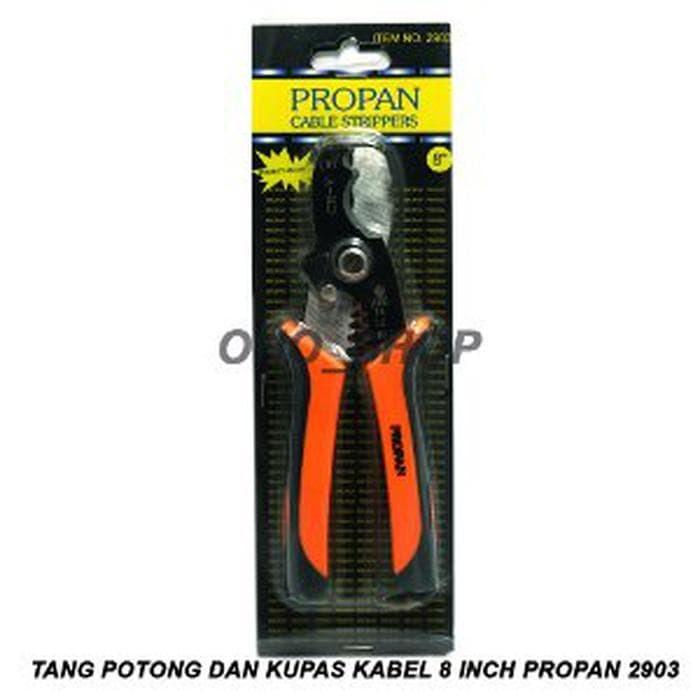 Promo Tang Potong dan Kupas Kabel 8 Inch Propan 2903 Murah