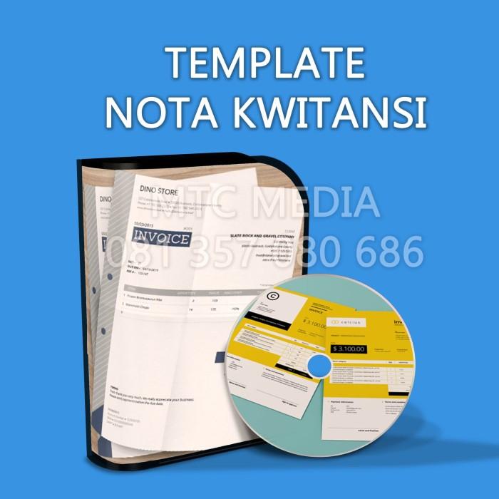 267 Template Desain NOTA KWITANSI INVOICE FAKTUR