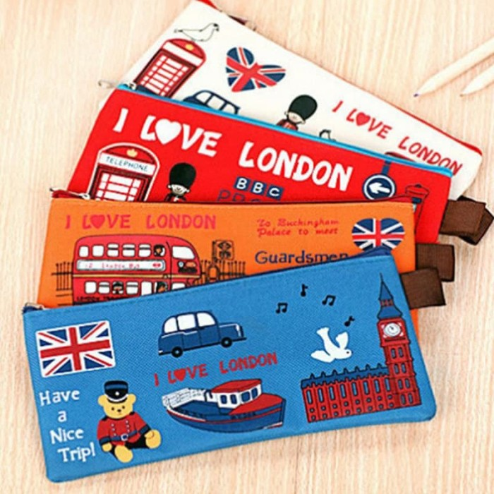 Foto Produk KOTAK PENSIL LONDON - Orange dari TL Globalindo