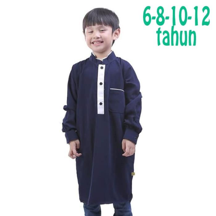 Baju koko kurta anak branded original tdlr biru navy 6 8 10 12 tahun