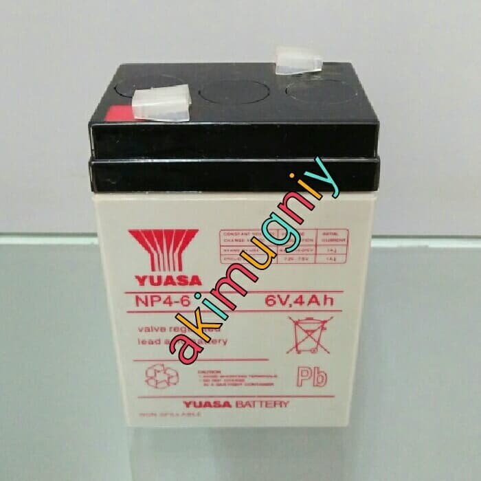harga Aki accu baterai kering vrla mf 6v 4ah 4ah 6v mainan senter yuasa Tokopedia.com