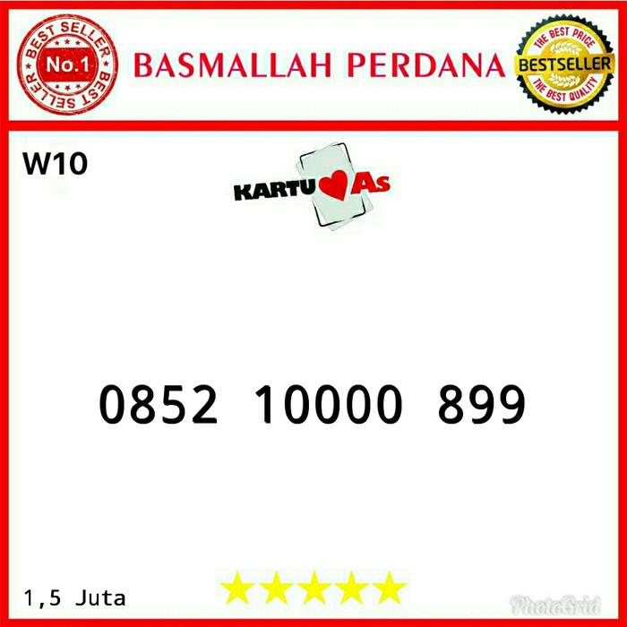 Nomor cantik Telkomsel As Seri kwartet 0000 0852 10000 899 RW11