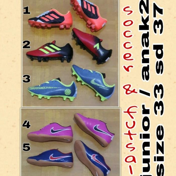 Jual sepatu bola sepatu futsal junior   anak sd size 33 sd 37 ... 11765b51bd