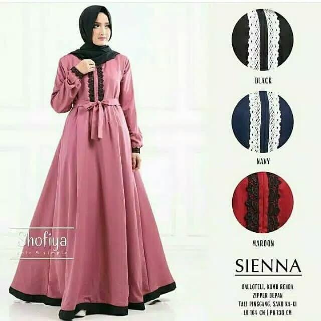 Jual Baju Gamis Wanita Remaja Modern Sienna Dress Maxy Hijau Tosca