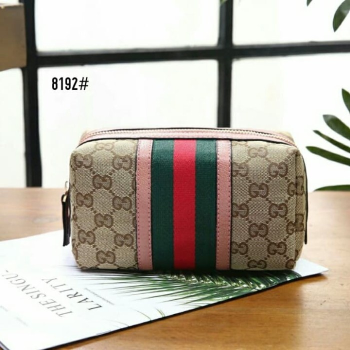 Jual Gucci Cosmetic Case 8192  High Premium AAA - Pink ... cca1ec73bb