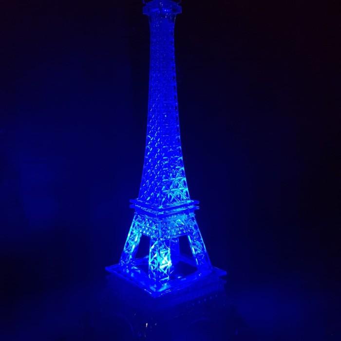 Lampu hias meja lampu tidur menara Eiffel LED 20cm