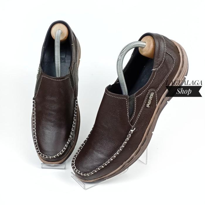 Sepatu Casual Pria Slip On Kulit Asli Model Kickers Handmade LGL01 CK -  740e9fd9d8