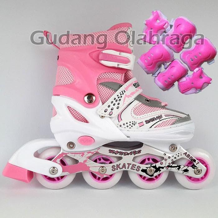 Jual PRODUK TERLARIS Sepatu Roda + Deker   Pelindung Inline Skate ... c7d6bf6413
