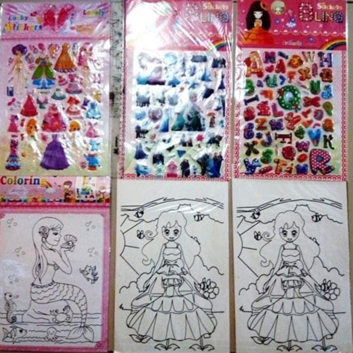 Jual Hot Promo Sticker Dan Mewarnai Gambar Mainan Anak Perempuan Produl Jakarta Barat Ibnu Pratomo Shop Tokopedia