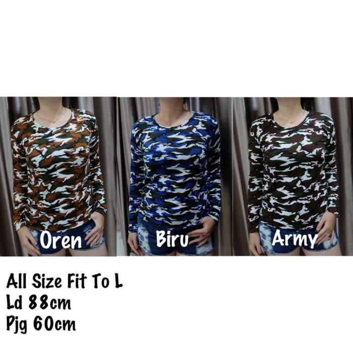 Katalog Baju Kaos Loreng Lengan Panjang Hargano.com