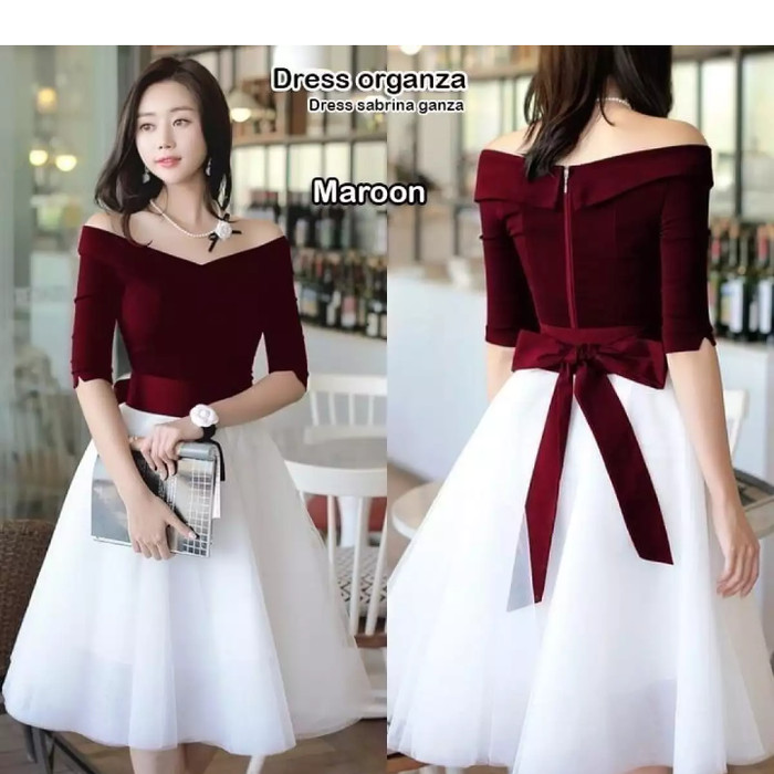 Jual Gsd Dress Pita Elegant Long Dress Kemeja Panjang Baju Pesta