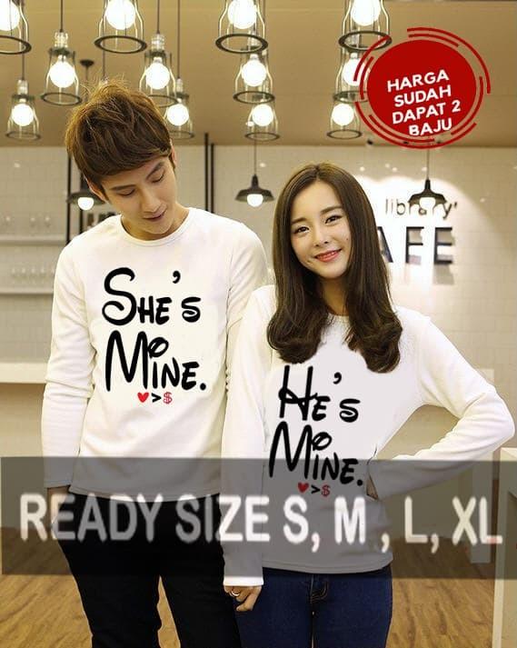 GBC Kaos Couple Lengan Panjang - Baju Kapel - Pakaian Pasangan SH001LP