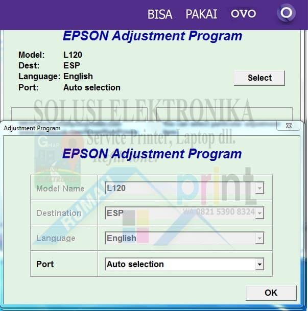 Jual Resetter Epson L120 1PC Error Service Required Berhasil 100% Bekerja -  Kota Banjarmasin - SOLUSIELECTRONIKA | Tokopedia