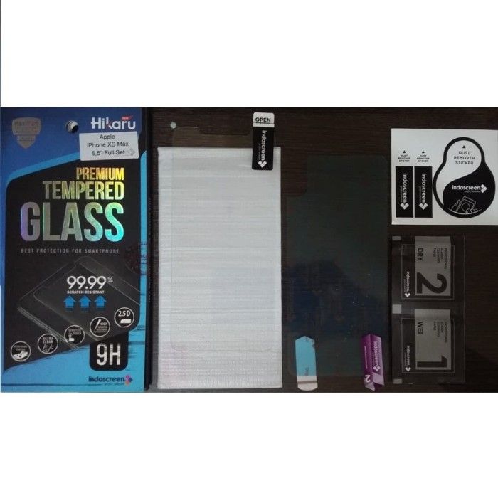 Hikaru Tempered Glass Apple iPhone XS Max (6.5 Inch) Full Set - Clear