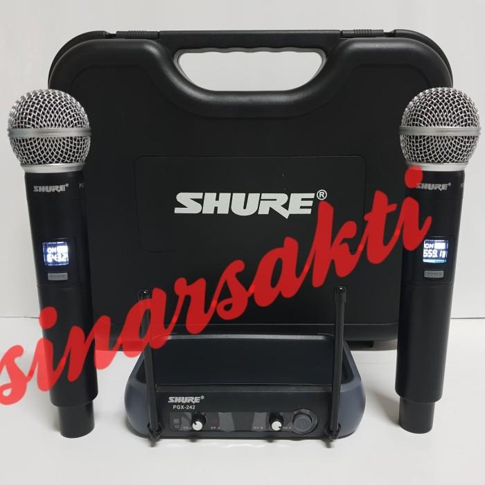 harga Mic wireless shure pgx 242 ( handheld ) Tokopedia.com