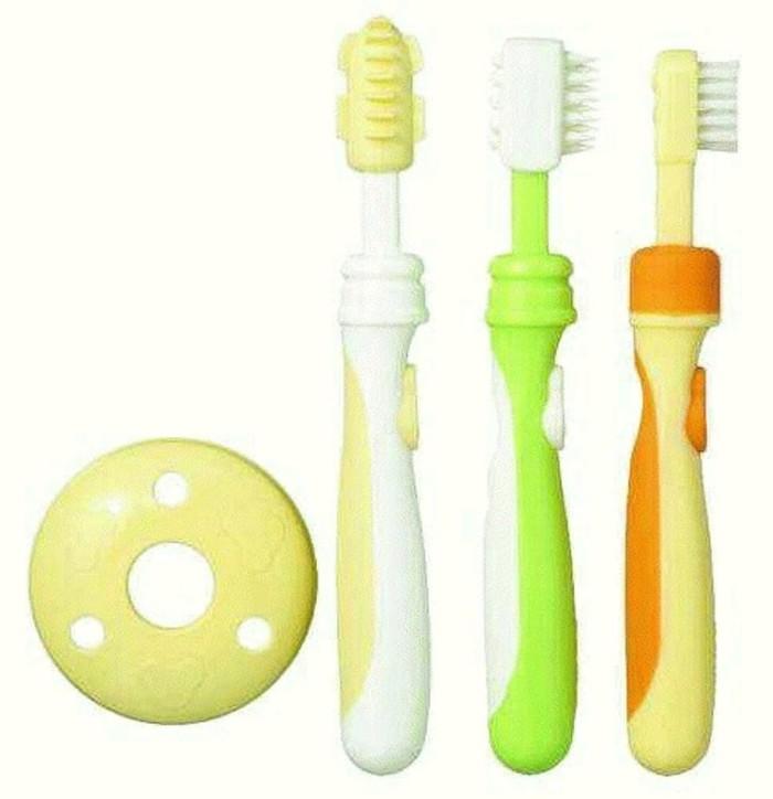 Jual Sikat Pembersih Gigi Bayi Training Toothbrush Set 123 Pigeon