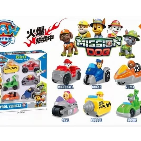 Jual Paw Patrol Mission Dog Patrol Vehicle Set 6in1 F1 Kota Batam Ellysiashop Tokopedia