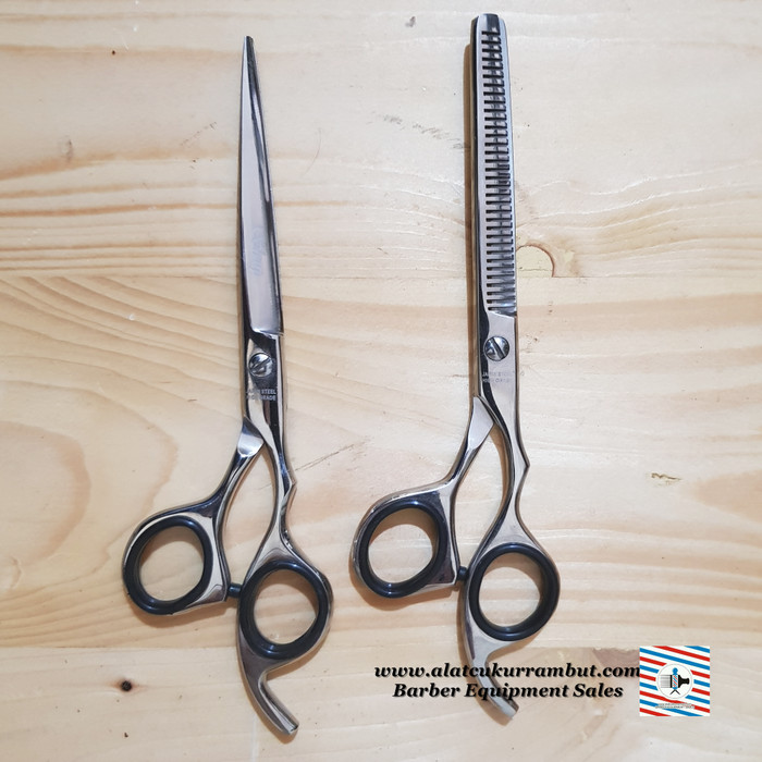 ... harga Gunting potong rambut sasak rambut set sharp barber pangkas rambut  Tokopedia.com 7efa8564cd