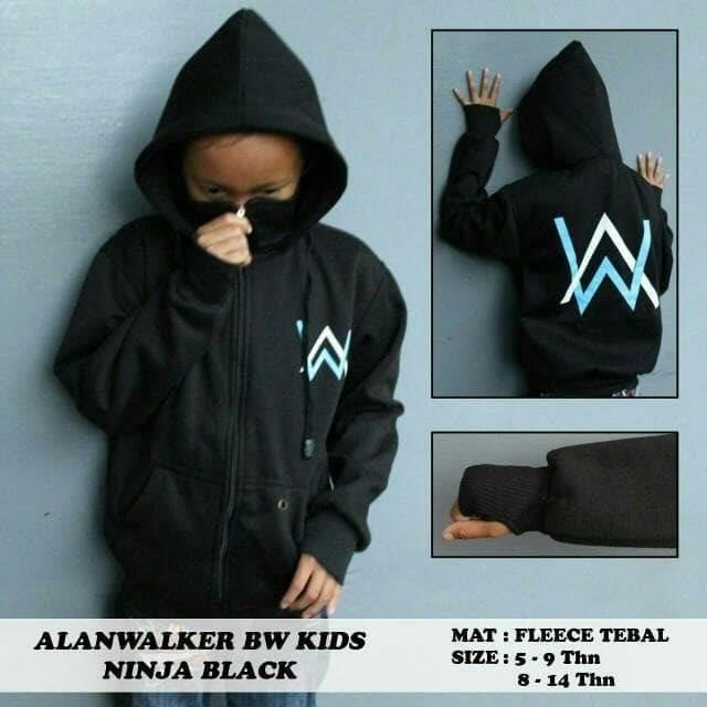 harga Hot!! saller jaket anak alan walker ninja size s m l..usia 6-14 tahun Tokopedia.com