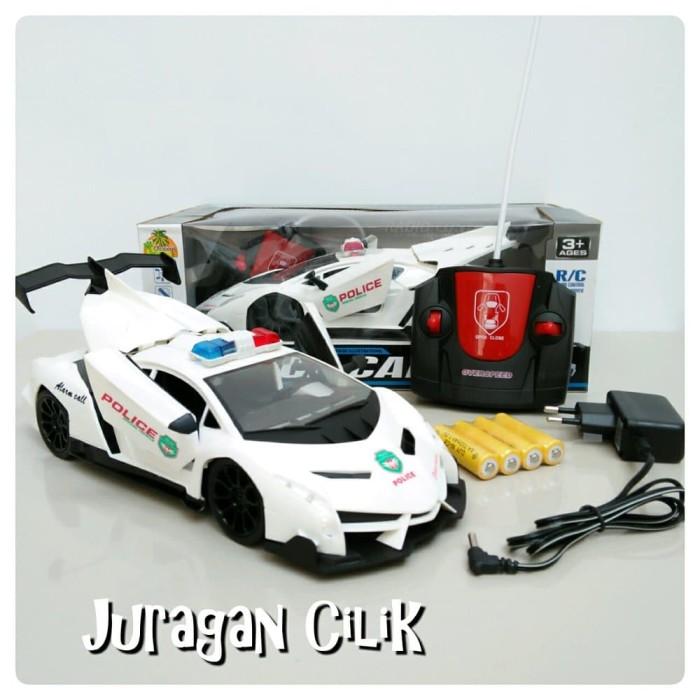 harga Mainan Mobil Remote Police Car Skala 1:16 Rc Remot Control Blanja.com