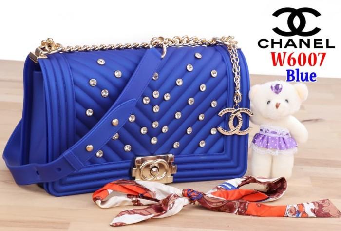 cb4a668af74e Tas Selempang Bag Impor Import Chanel Jelly W6007 6007 Biru Blue Mewah