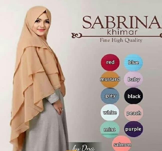 Jilbab Instan Syari /Hijab Kerudung Bergo Pet Khimar Syari Sabrina