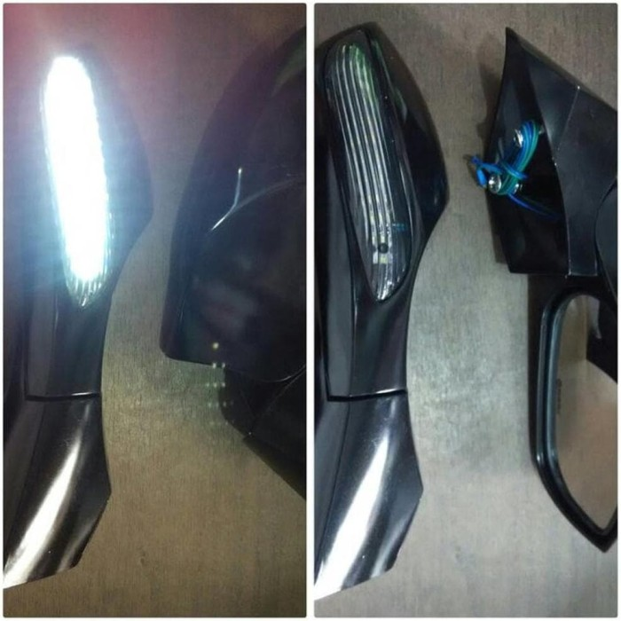Kaca Spion Nmax Lipat Lampu Sen Samping Model Mobil
