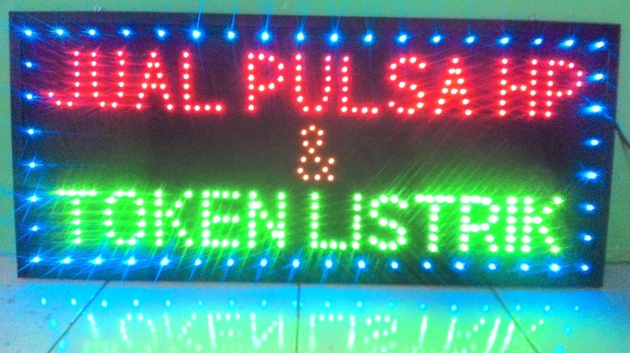 Jual Papan Tulisan Lampu Led Sign Jual Pulsa Hp Token Listrik Kota Semarang Hermatron Shop Tokopedia