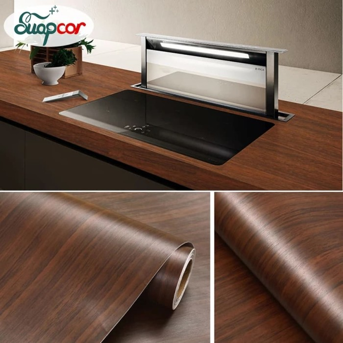Foto Produk Wallpaper papan kayu natural 45 cm x 10 mtr || Wallpaper dinding dari dedengkot wallpaper