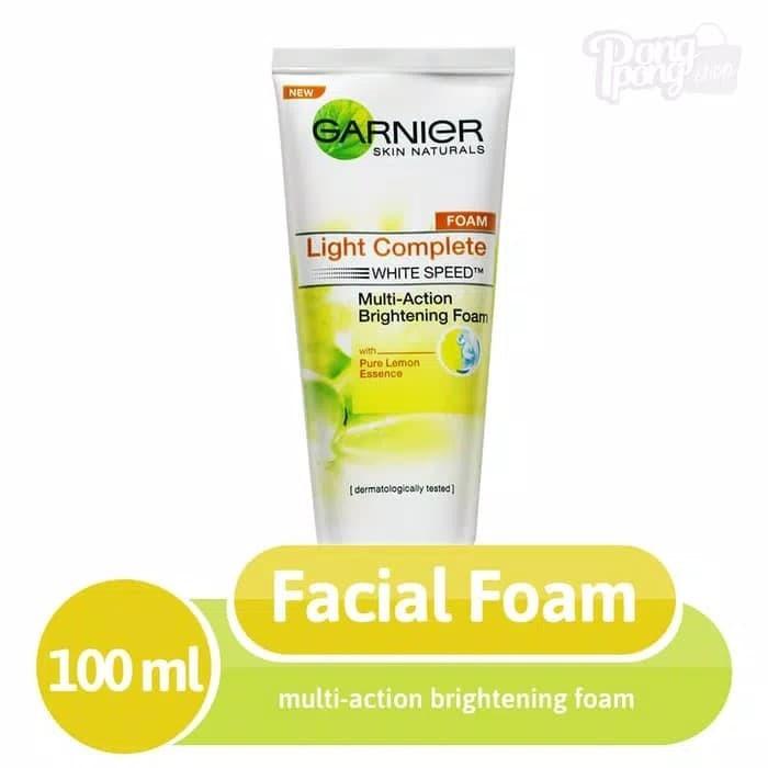Garnier facial foam light complete 100ml white speedy