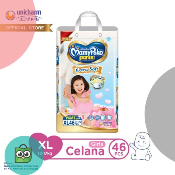 MamyPoko Pants Extra Soft - XL 46 - Girls - Popok Celana