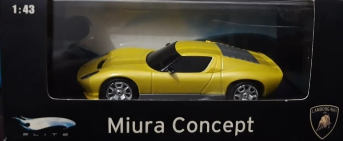 Jual Lamborghini Miura Concept Yellow Elite Hotwheels 1 43