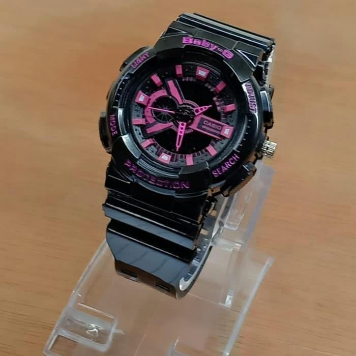 Jual Jam Tangan Wanita Casio Baby-G Dual Time Kw Super Black Pink ... 2958a1c2ea