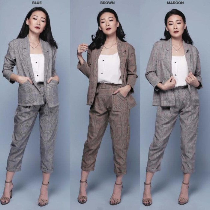 PRINCE OF WALES TROUSERS Celana Crop