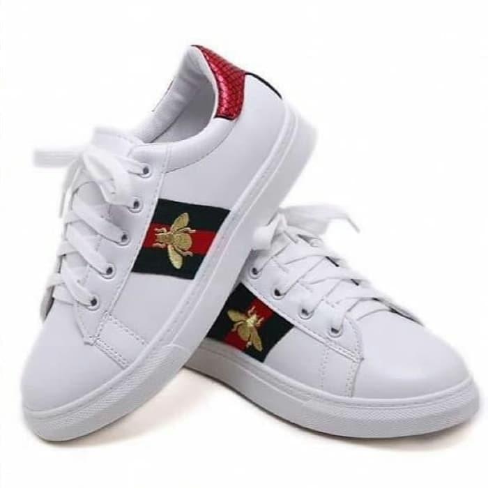 GUCCI Women Sneakers white bee