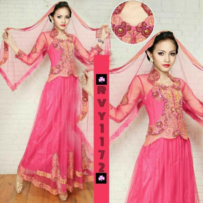 Jual Pink Fanta Rvy1172 Gaun Kebaya India Pesta Modern Nikah