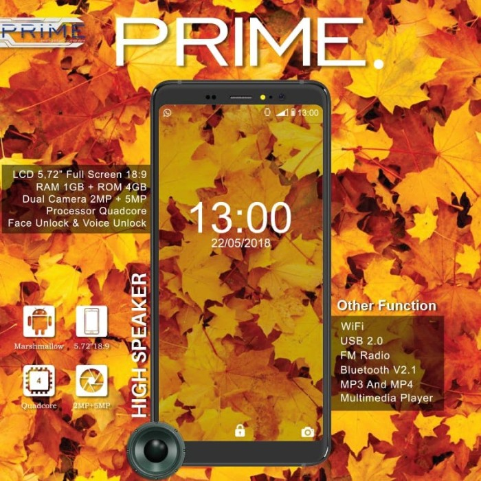 Jual HP PRIME P1 ANDROID - 3G - LCD 5 72 INCH FULLVIEW - DKI Jakarta -  Prime Mobile | Tokopedia