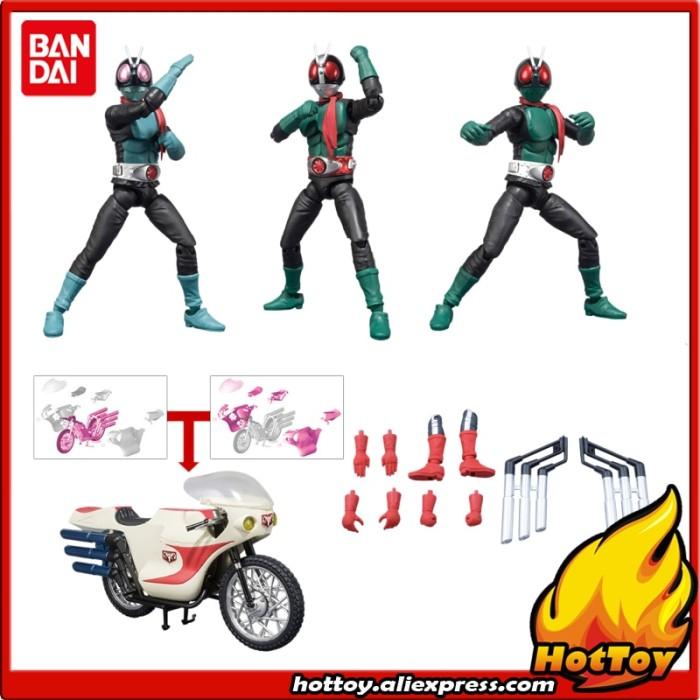 No.4 /& No.5 New Cyclone Bike Figure Bandai SHODO-X Kamen Rider 3 Boxset