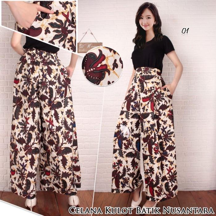 Jual harga promo murah celana kulot batik bawahan kebaya  batik ... 6bf94e4439