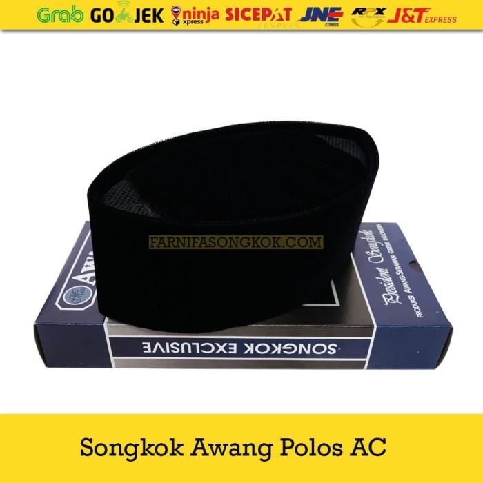 Foto Produk Kopiah Songkok Awang Polos AC Size Besar - Hitam, 10 dari Farnifa