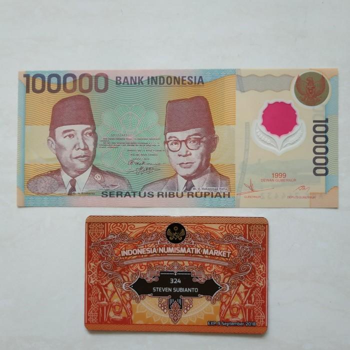 harga Uang kuno indonesia 100.000 rupiah soekarno hatta polymer 1999 Tokopedia.com
