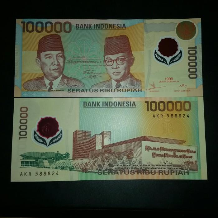 harga Uang kuno polymer rp 100.000 soekarno hatta tahun 1999 unc gress Tokopedia.com