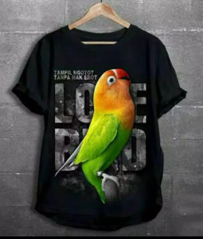 harga Kaos burung lb/ kaos burung love bird/kaos burung model terbaru Tokopedia.com