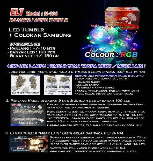 Foto Produk Lampu Natal Hias LED RGB dari Toko Mitra Abadi