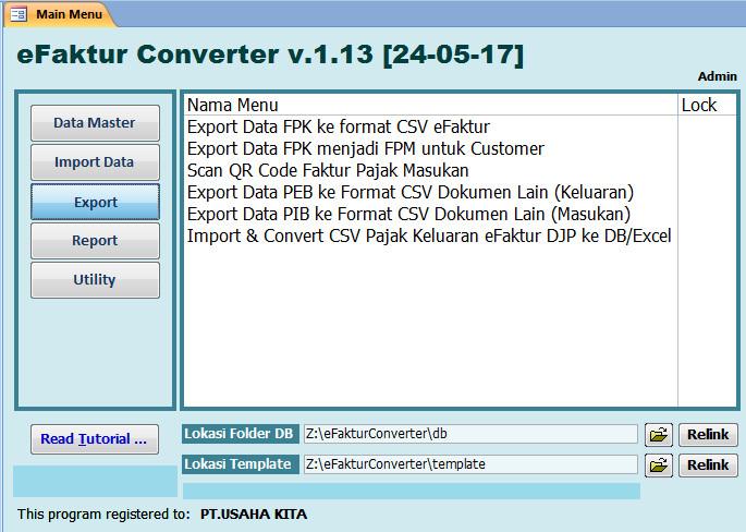 Foto Produk Software eFaktur Pajak Converter e-Faktur E Faktur Tools CSV Creator dari Zilky.ID