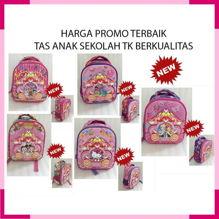 TAS TERBAIK Ransel TK - Tsum - LOL - Frozen - Hello Kitty - Little