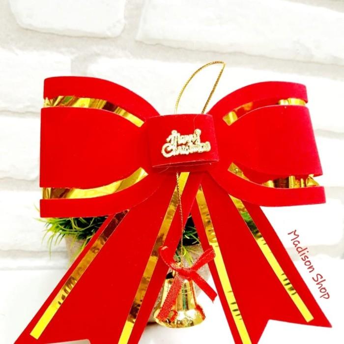 Pita Natal Merah M Hiasan Parcel Natal Murah Dekorasi Pohon Natal