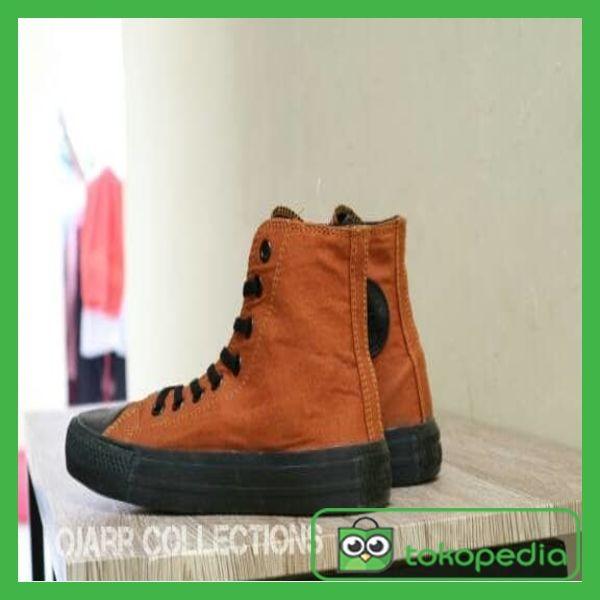45f1b0fb1382 Sepatu Converse All Star Hi High Chuck Taylor Coklat Brown Grade Ori
