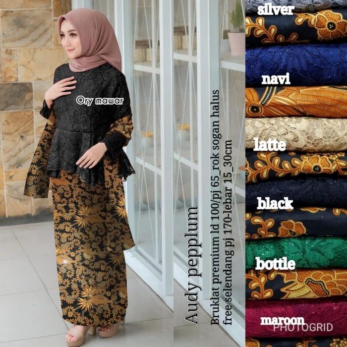 Jual Audy Pepplum Kebaya Hitam Kota Surabaya Online Shop Jojoran Tokopedia
