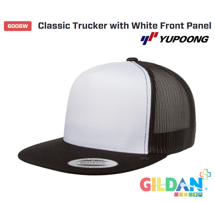 02f44ed9 Jual 6006W Classic Trucker with White Front Panel Topi Flexfit ...